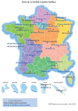 Unités de Vie Familiale : Carte actualisée des UVF  Uvf_2011