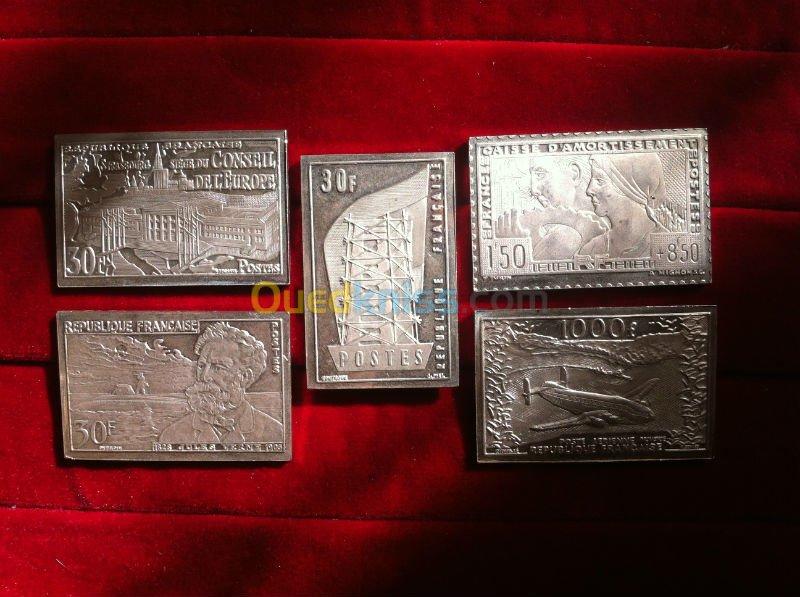 Timbre Francais en argent massif Photo111