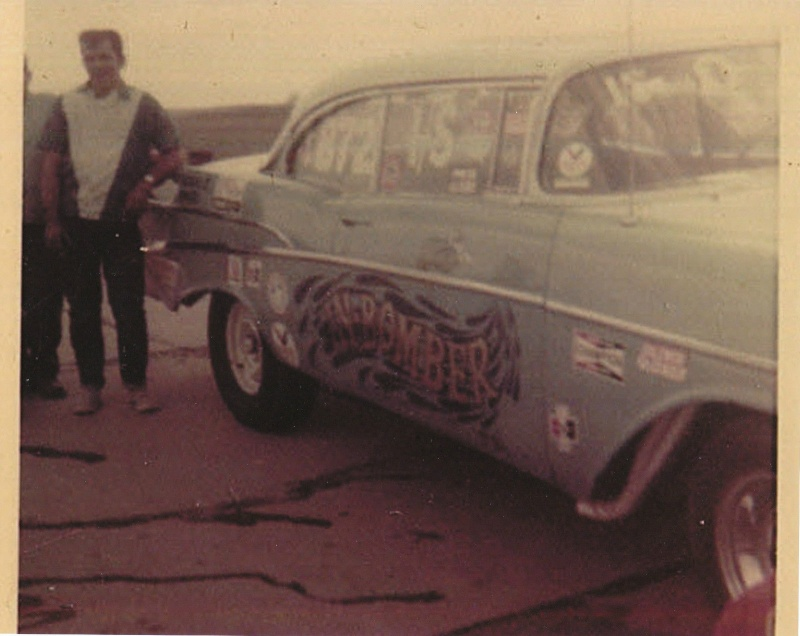 1950's car dragster 357