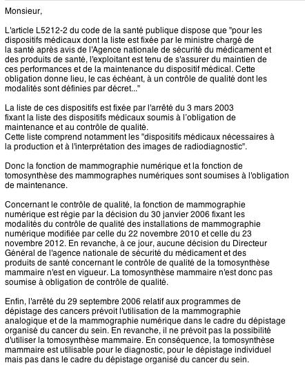 Contrôle qualité non obligatoire en mammographie Captur10