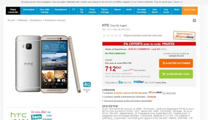 [Info] HTC one M9 - Où l'acheter et à quel prix ?  - Page 2 M9_rdc11