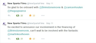 NEW SPARTA FILMS ANNOUNCE THEIR INVOLVEMENT WITH BRIMSTONE 2310