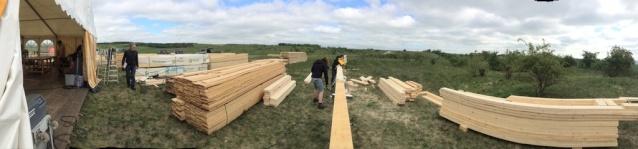 WORK BEGINS ON BUILDING SETS FOR BRIMSTONE 2511