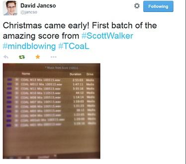 FILM EDITOR DAVID JANSCO TWEETS UPDATE 5210