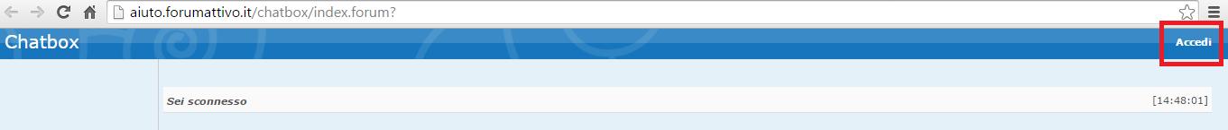 Accesso automatico nuova chat Accedi10