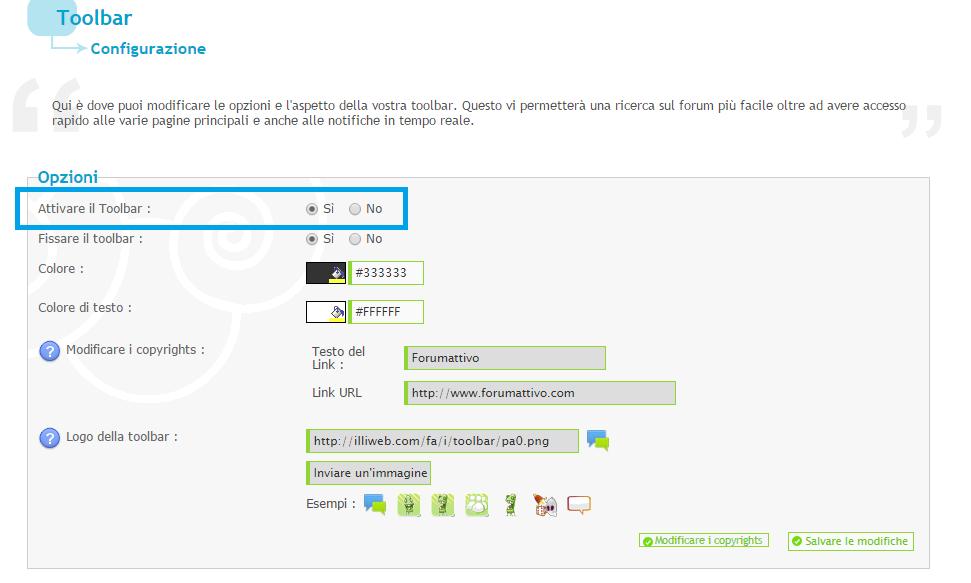 Chatbox - Aggiungere la chatbox nella toolbar Forumattivo Attiva11