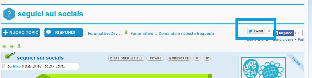 Hashtag twitter su Forum dei Forum: Aiuto per Forumattivo Demo10