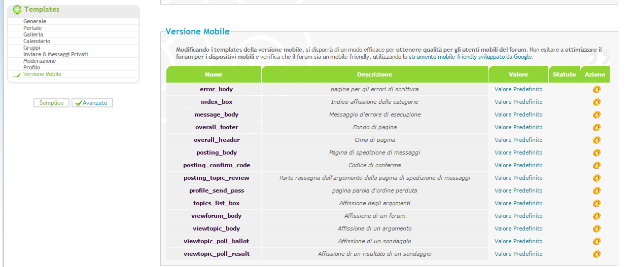 Versione mobile: Templates ora disponibili Mobile10