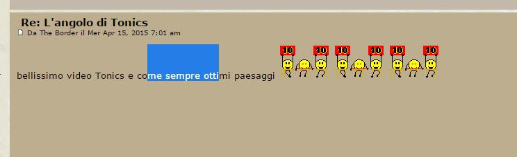 Impossibile selezionare testo sul mio forum Selevt10