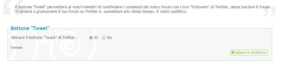 Twitter: Nuove opzioni per i vostri forum Twit10