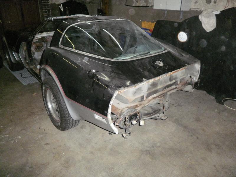 debut de la restauration de ma corvette c3 25eme 310