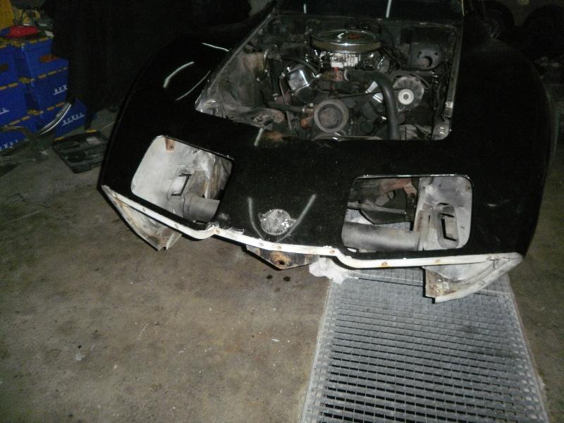 debut de la restauration de ma corvette c3 25eme 410