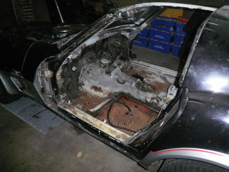 debut de la restauration de ma corvette c3 25eme 510