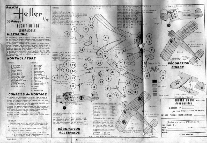 """BÜCKER Bü133 """"Jungmeister"""" 1/72e ref 078 Notice10"""