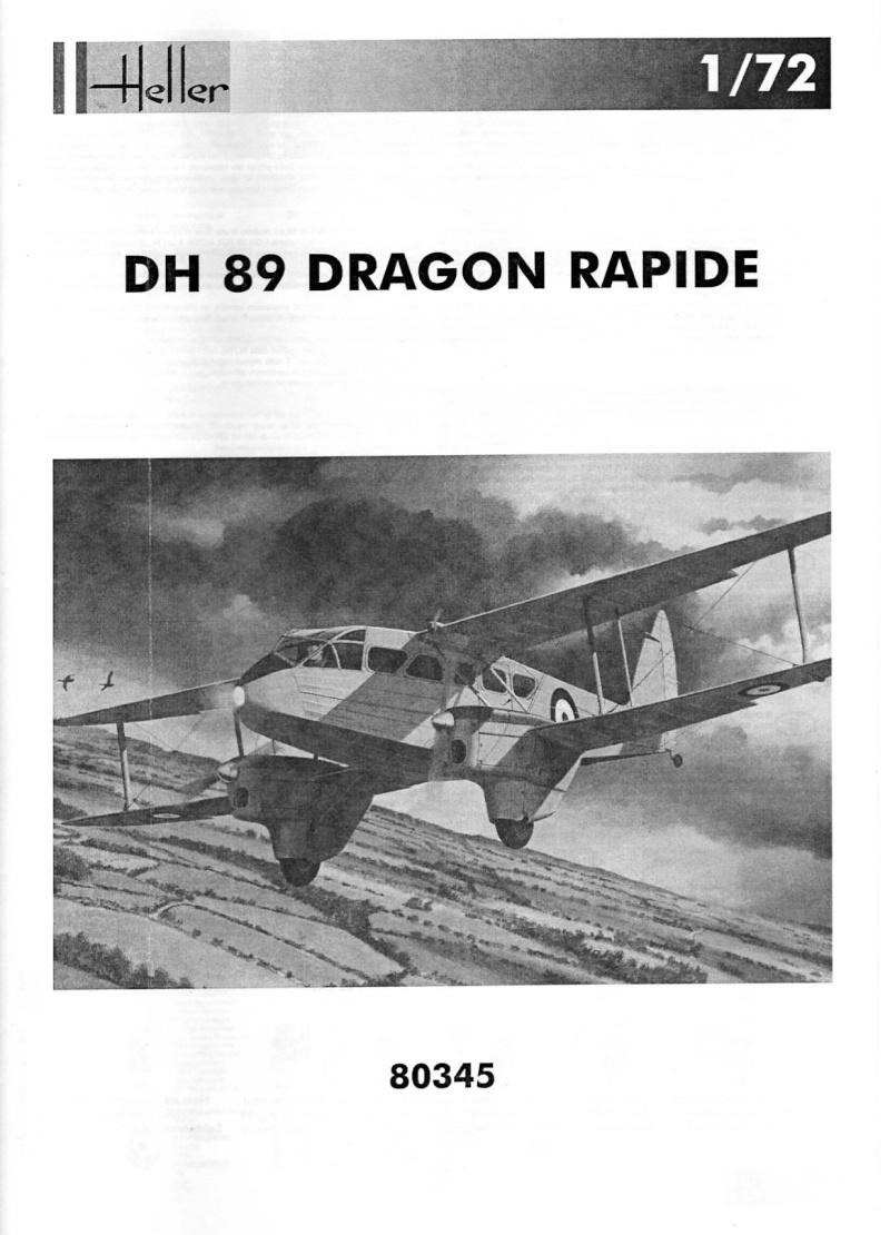 DE HAVILLAND DH 89 DRAGON 1/72ème Réf 80345 Notice Notice11