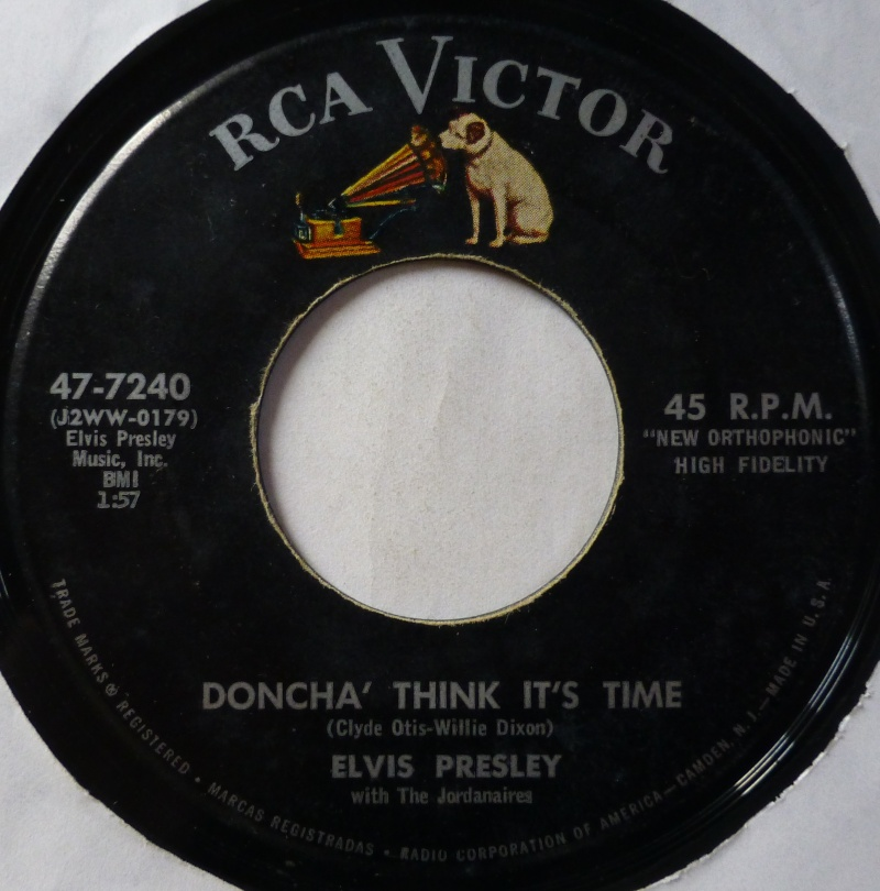 Wear My Ring Around Your Neck / Doncha' Think It's Time 1c22