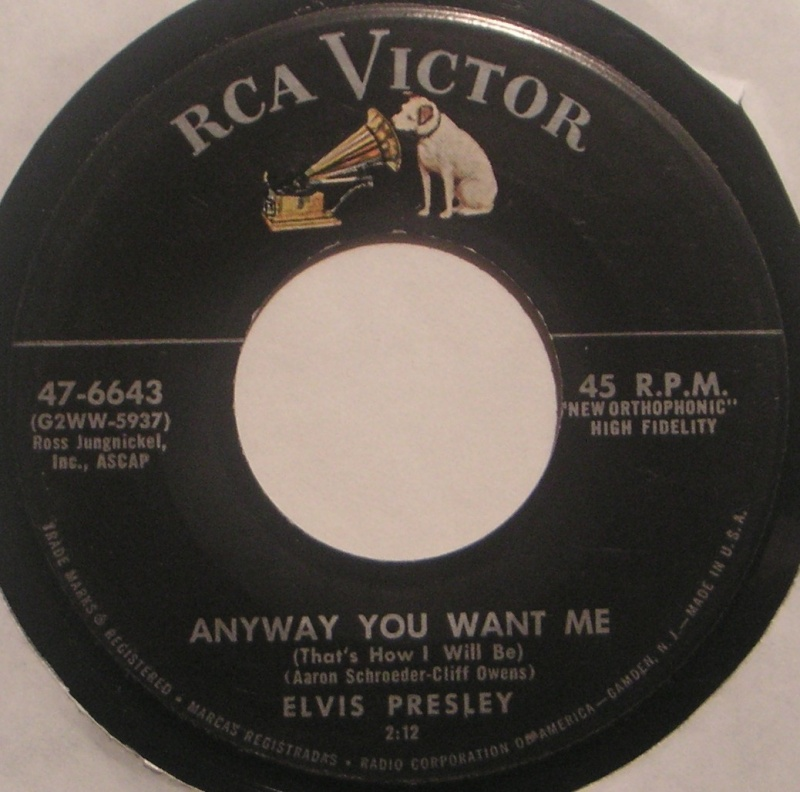 Love Me Tender / Any Way You Want Me 2b15