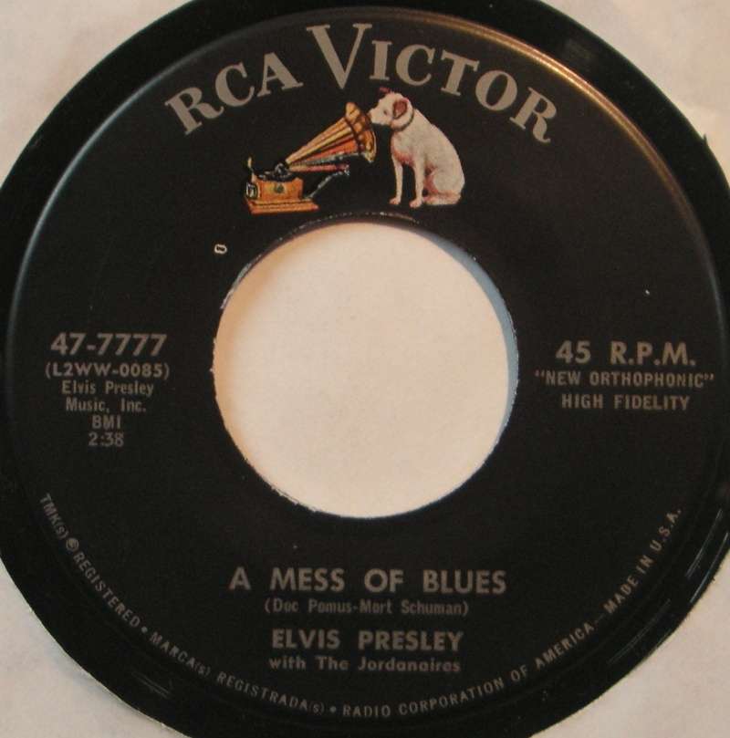 It's Now Or Never / A Mess Of Blues 4b11