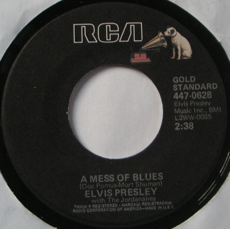 It's Now Or Never / A Mess Of Blues 6b12