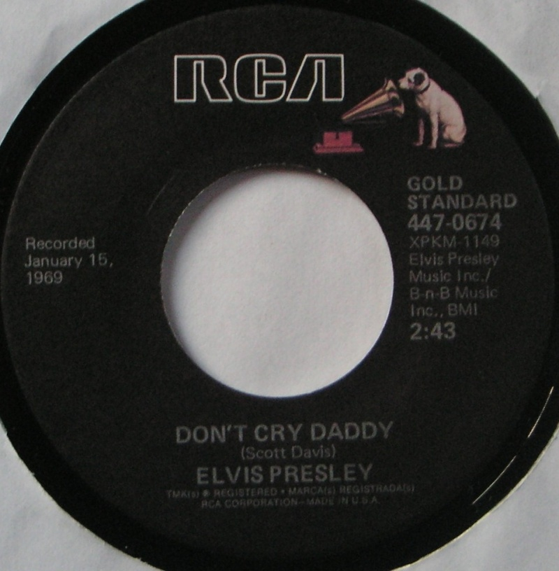 Don't Cry Daddy / Rubberneckin' 7b14