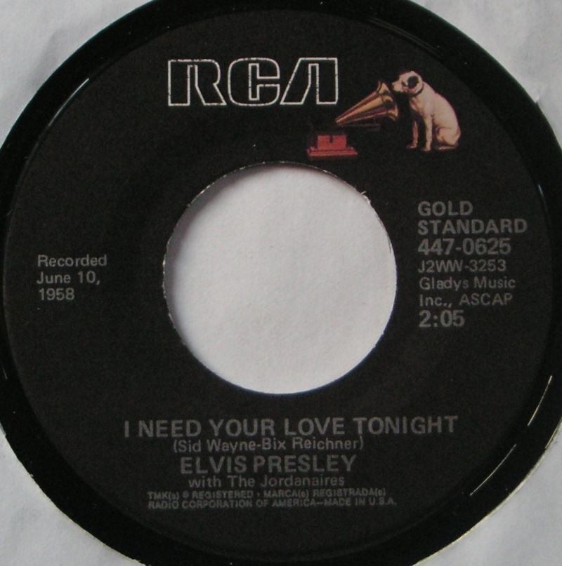 I Need Your Love Tonight / A Foll Such As 1 8b11