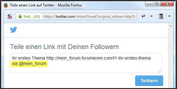 [Neue Funktion] Twitter-Button Update14