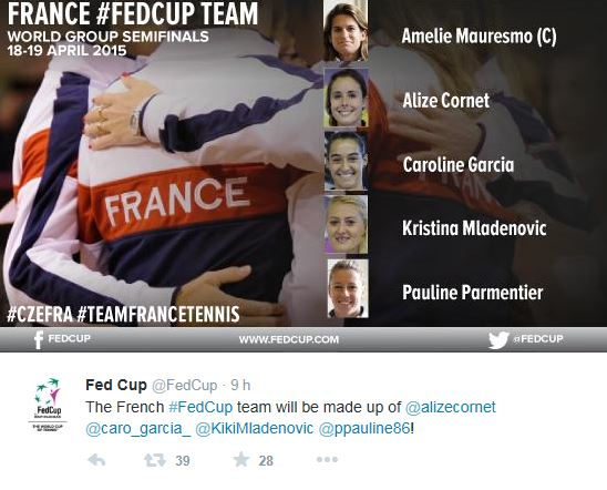 FED CUP 2015 : Groupe Mondial - Page 6 France10