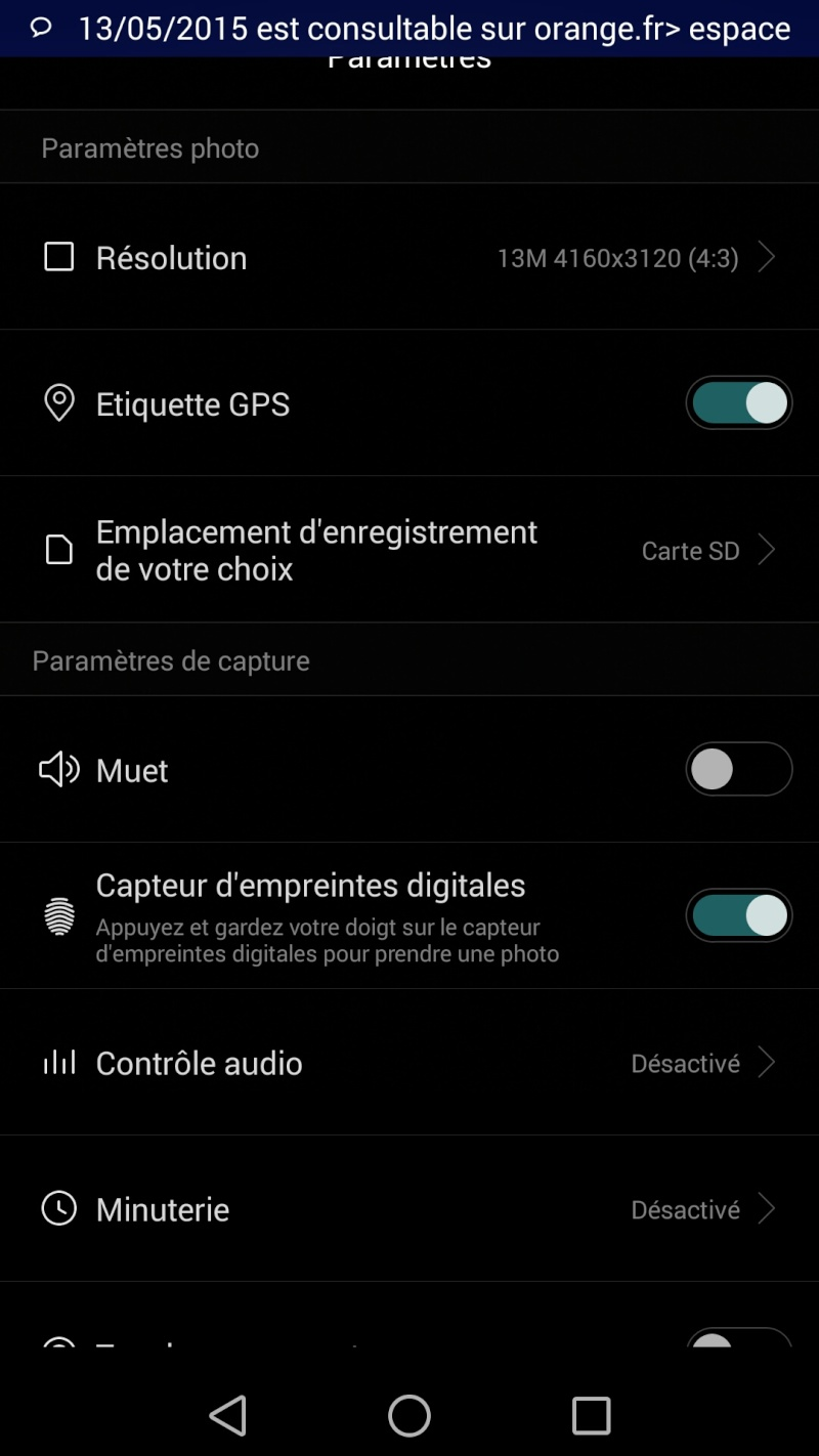 [RESOLU] [AIDE] - Enregistrer photos directement sur carte SD de ma tablette. Est-ce possible ? Screen10