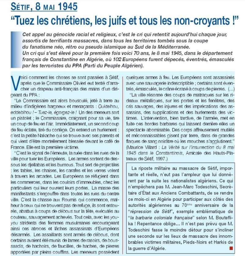 Honteux : Jean-Marc Todeschini en Algérie COMMEMORATION DE SETIF UN VERITABLE SCANDALE   Secors10