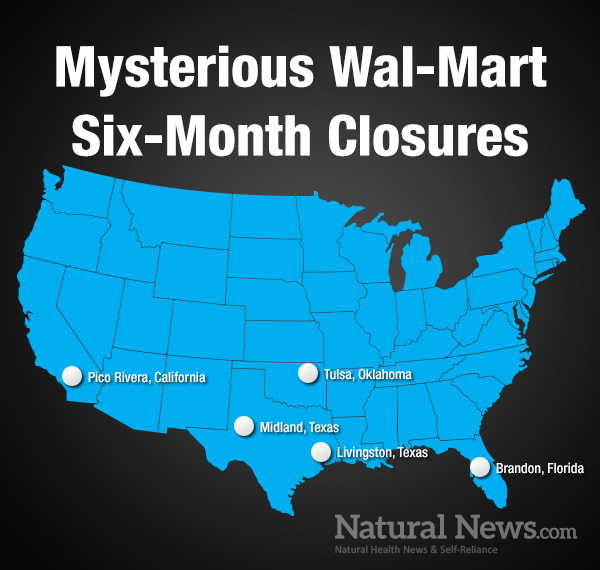 "MYSTERY SURROUNDS WAL-MART BIZARRE COVER STORY OF CLOSING FIVE STORES FOR SIX MONTHS DUE TO ""PLUMBING PROBLEMS"" Nn-mys10"