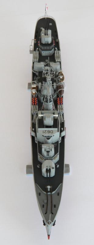 Escorteur Surcouf Heller 1/400 et kit l'arsenal Img_8813