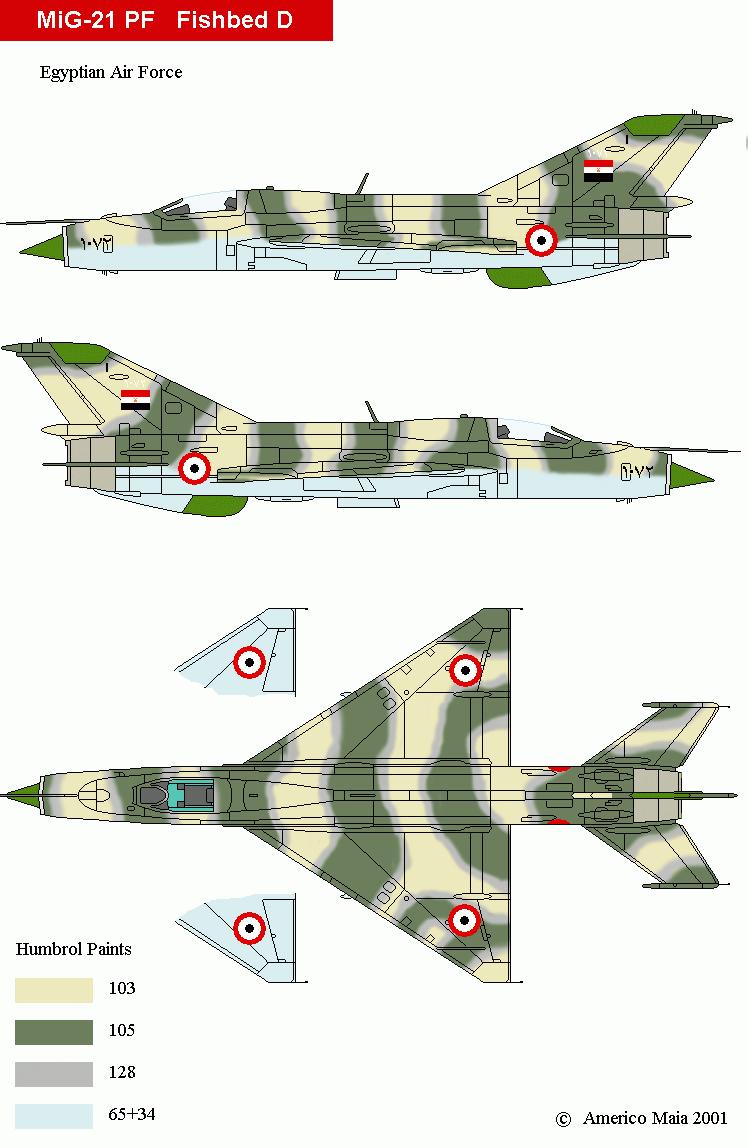 """Mikoyan-Gourevitch MiG-21 PF """"égyptien"""" au 1/48 6_1510"""