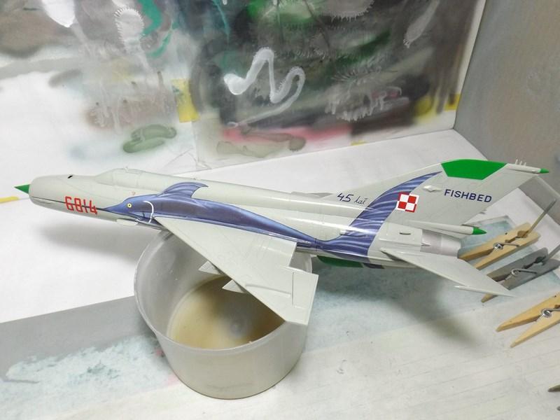 """mikoyan - - Mikoyan-Gourevitch MiG-21 MF """"Polish air force"""" au 1/48....l'espadon bleu. Dscf1340"""