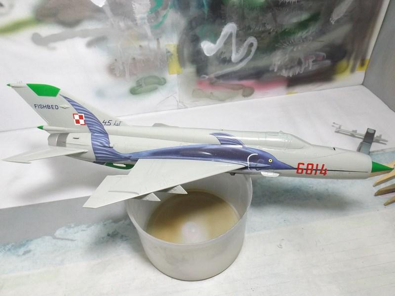 """mikoyan - - Mikoyan-Gourevitch MiG-21 MF """"Polish air force"""" au 1/48....l'espadon bleu. Dscf1342"""
