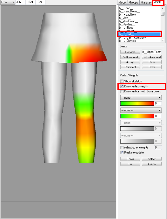 [Apprenti]Allonger et élargir le mesh d'un vêtement Fig410