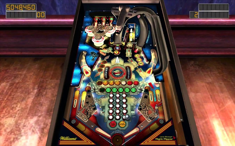 Pinball Arcade : space shuttle Spaces10