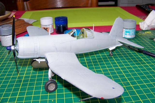 F4U-1 A Corsair Tamiya 1/48 oui mais un All Black ! fini 100_9470