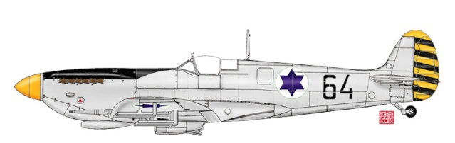 [Hobby Craft] Seafire XV Supermarine rénové en Spitfire MkIX Israeli Air Force 1949 89_1210