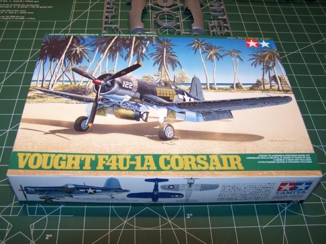 F4U-1 A Corsair Tamiya 1/48 oui mais un All Black ! fini F4u110