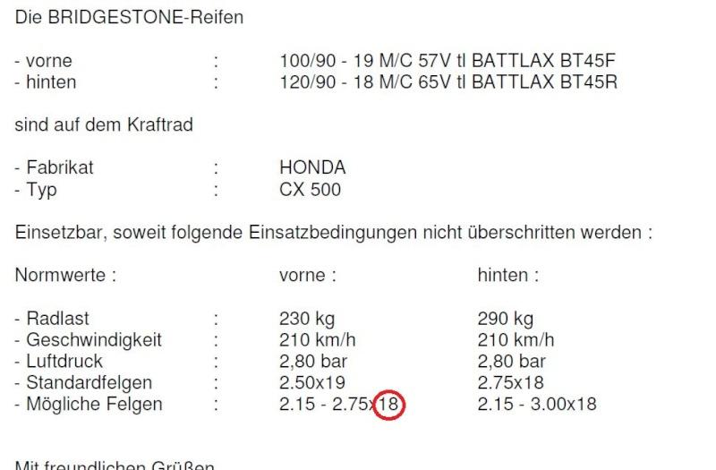 Breitere Reifen Zwisch10
