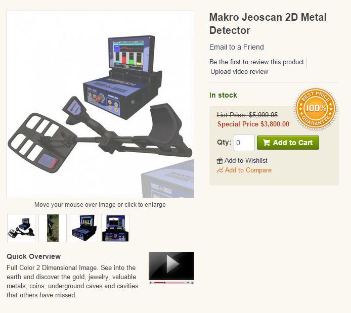 JeoScan 2D Metal Detector System Captur14