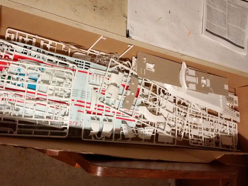 Revell 05223 - Queen Mary 2 1/400 (Weiter-) Baubericht - Fertig 1010