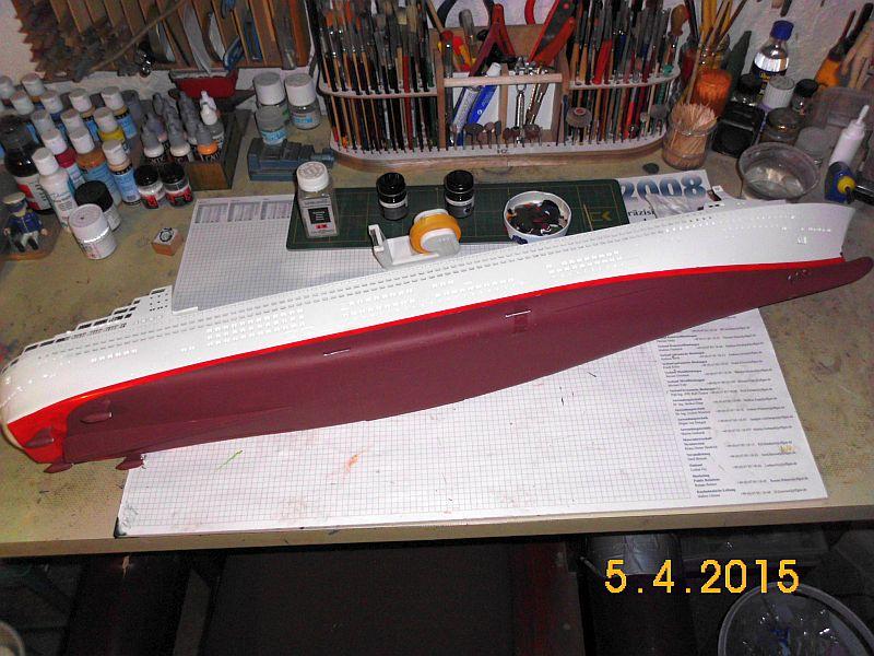 Revell 05223 - Queen Mary 2 1/400 (Weiter-) Baubericht - Fertig 1310