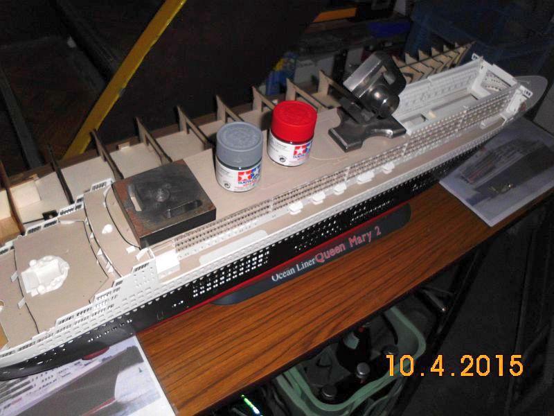 Revell 05223 - Queen Mary 2 1/400 (Weiter-) Baubericht - Fertig 135