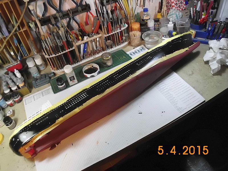 Revell 05223 - Queen Mary 2 1/400 (Weiter-) Baubericht - Fertig 1410