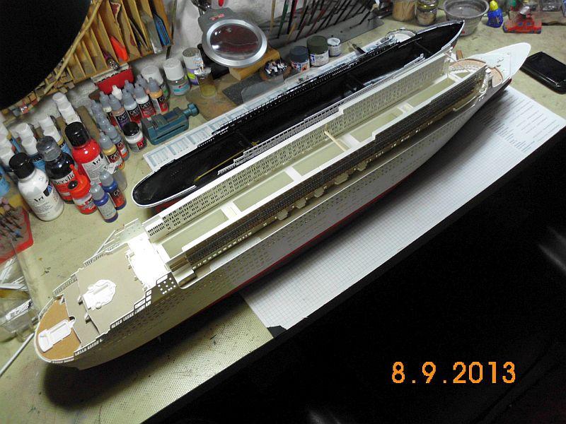 Revell 05223 - Queen Mary 2 1/400 (Weiter-) Baubericht - Fertig 416