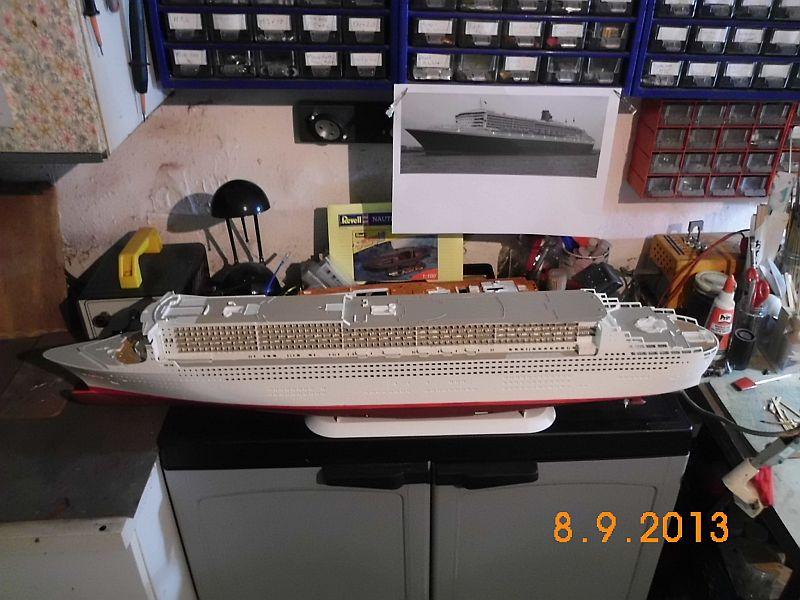 Revell 05223 - Queen Mary 2 1/400 (Weiter-) Baubericht - Fertig 615