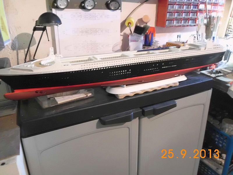 Revell 05223 - Queen Mary 2 1/400 (Weiter-) Baubericht - Fertig 7n10