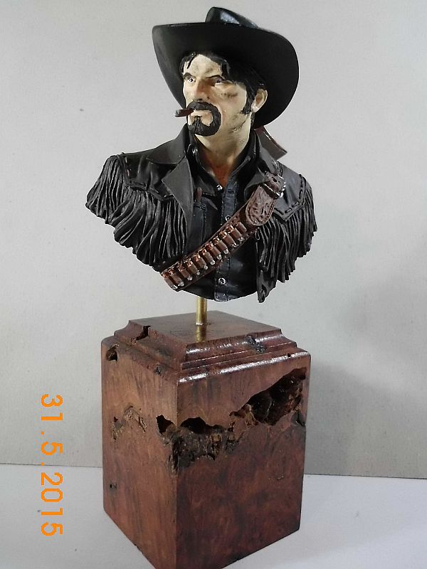 "Young Miniatures YH 1835 ""Wild West"" - Resin Büste 1/10 - Fertig B111"