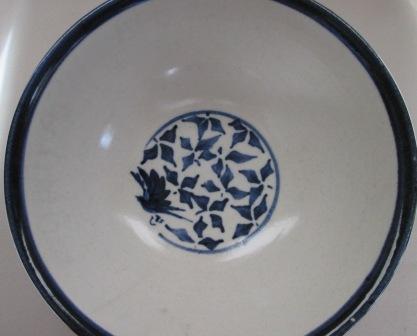 Blue & White Bird Bowl by Dianne Brady Bird_b10